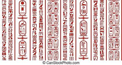 egípcio, hieroglifo, escrita
