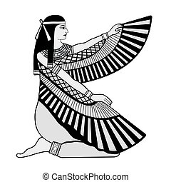 egípcio, nacional, drawing.