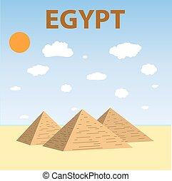 egípcio, piramides