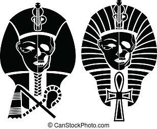 egípcio, símbolo, de, mortos
