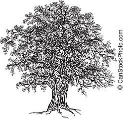 eg træ