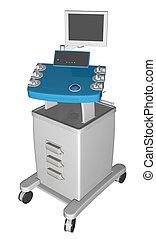 EGC or electrocardiogram device or cardiograph, 3D...