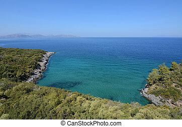 egeïsch, panoramisch, zee, -, aanzicht, landscape