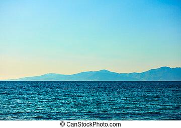egeïsch, tinos, eiland, zee