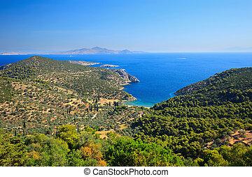egeïsche eilanden, griekse , zee