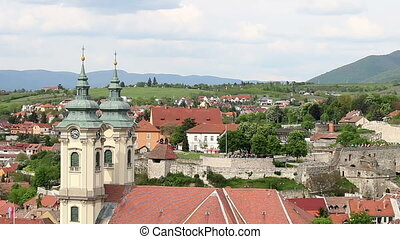 Eger cityscape Hungary