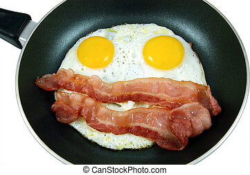Egg and bacon happy face