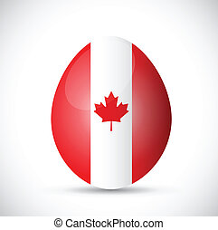 egg and canadian flag illustration