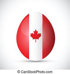 egg and canadian flag illustration