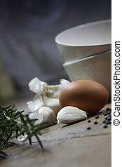 Egg and Garlic