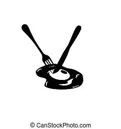 egg black vector silhouette