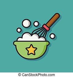 Egg bowl vector icon