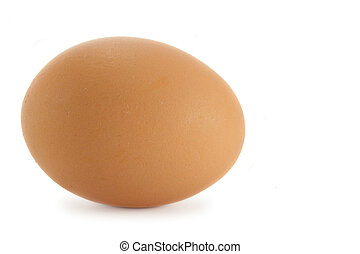Egg - Brown chicken egg isolated over white background