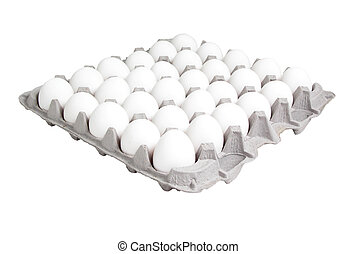 Egg Carton - 24 count egg carton isolated on white.
