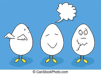 Egg cartoon set