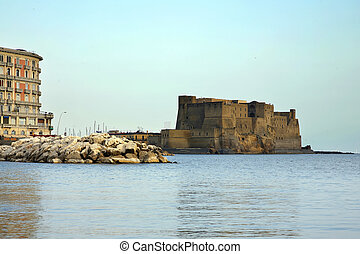 Egg Castle a medieval fortress in the bay of Naples, Italy