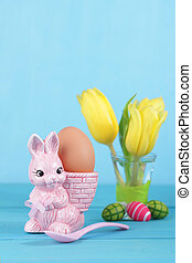 egg cup with easter bunny