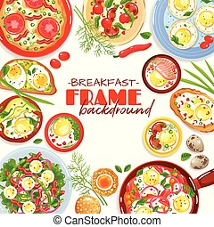 Egg Dishes Frame Background
