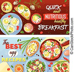 Egg Dishes Horizontal Banners