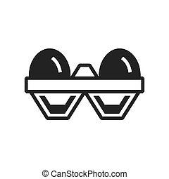egg Farm icon black color