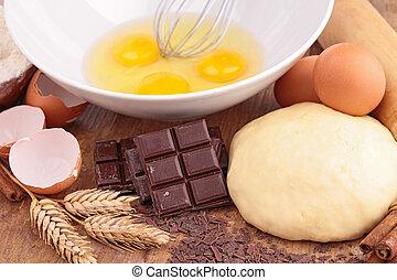 egg, flour, dough