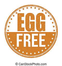 Egg free stamp