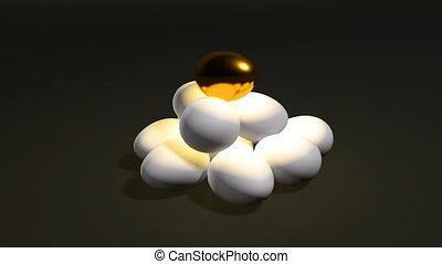 egg gold set b