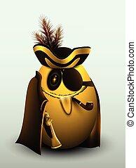 Egg, Golden pirate captain.