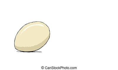 Egg hatch - Cartoon egg hatch, animation HD with alpha...