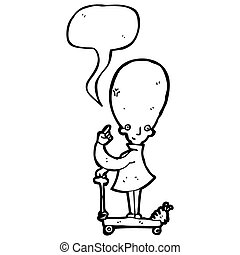 egg head scientist cartoon