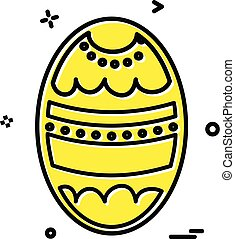 Egg icon design vector