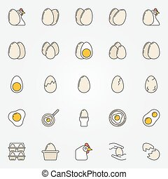 Egg icons collection