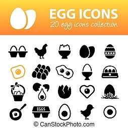 egg icons