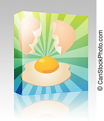 Egg illustration box package