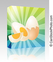 Egg illustration box package