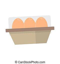Egg in a carton box