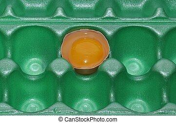 egg in carton
