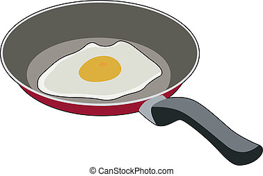 Egg in the pan