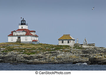 Egg Island Light House Acadia National park Maine