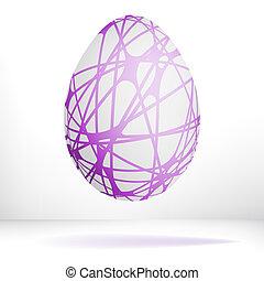 Egg isolated isolated on white.  + EPS8