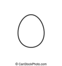 Egg line icon. - Egg thick line icon with pointed corners...