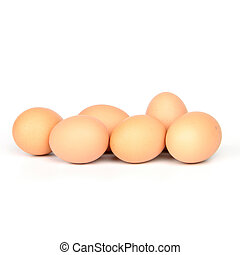 Egg - chicken egg isolated on pure white background