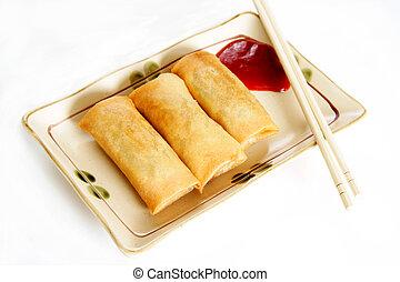 Egg rolls - Three crispy fried egg rolls