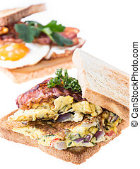 Egg Sandwiches on white