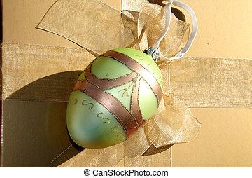 Egg shaped ornament