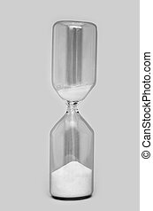Egg timer - isolated on grey