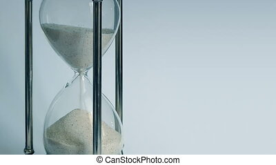 Egg Timer Running Down Closeup - Closeup of sand pouring...