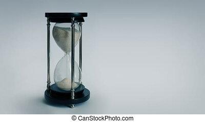 Egg Timer Running Down Timelapse - Egg timer on plain...