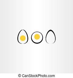 egg vector icon set elements