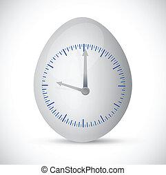 egg watch illustration design
